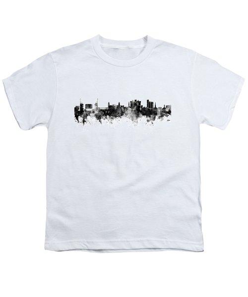 Fayetteville Arkansas Skyline Youth T-Shirt by Michael Tompsett