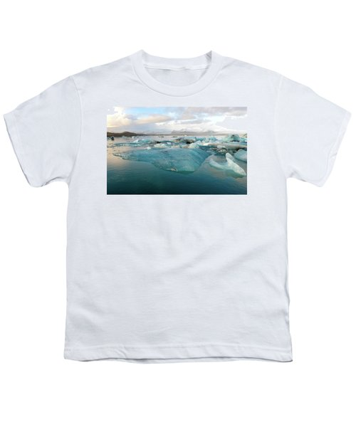 Jokulsarlon The Glacier Lagoon, Iceland 2 Youth T-Shirt