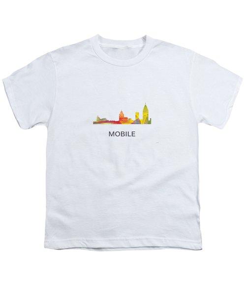 Mobile Alabama Skyline Youth T-Shirt by Marlene Watson
