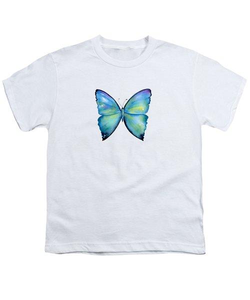 2 Morpho Aega Butterfly Youth T-Shirt