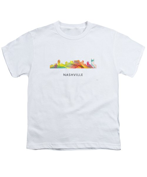 Nashville Tennessee Skyline Youth T-Shirt by Marlene Watson