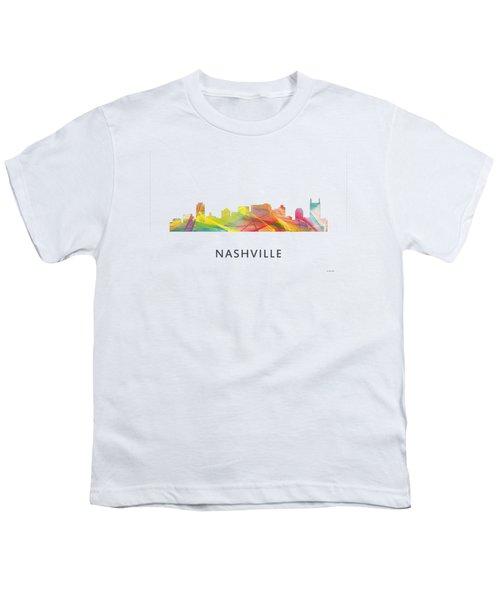 Nashville Tennessee Skyline Youth T-Shirt