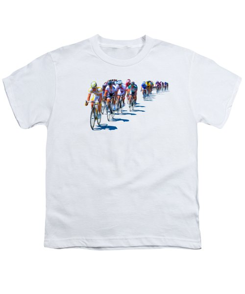 Philadelphia Bike Race Youth T-Shirt by Bill Cannon