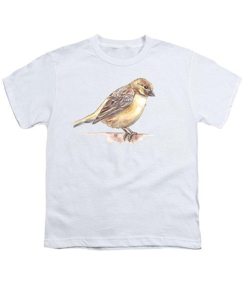 Sparrow Youth T-Shirt by Katerina Kirilova