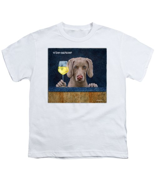 Wine-maraner Youth T-Shirt by Will Bullas