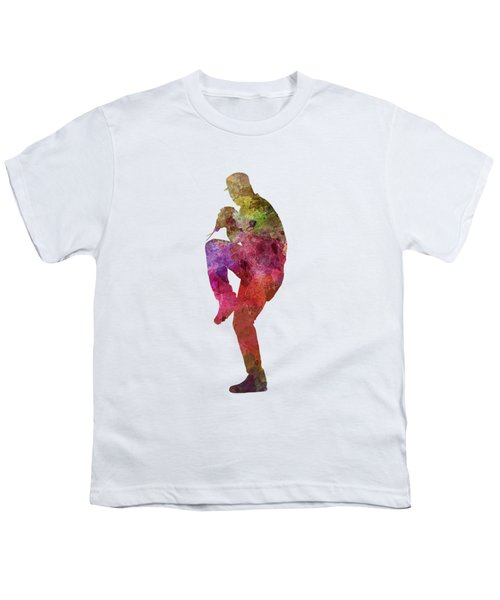 Baseball Player Throwing A Ball Youth T-Shirt