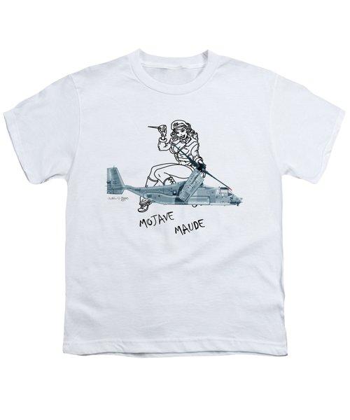 Bell Boeing Cv-22b Osprey Mojave Maude Youth T-Shirt by Arthur Eggers
