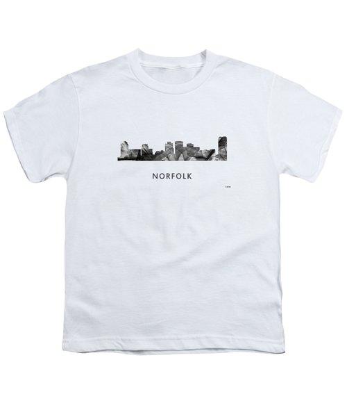 Norfolk Virginia Skyline Youth T-Shirt by Marlene Watson