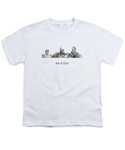 Raleigh North Carolina Skyline Youth T-Shirt by Marlene Watson