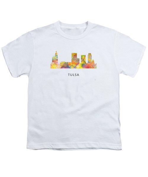 Tulsa Oklahoma Skyline Youth T-Shirt