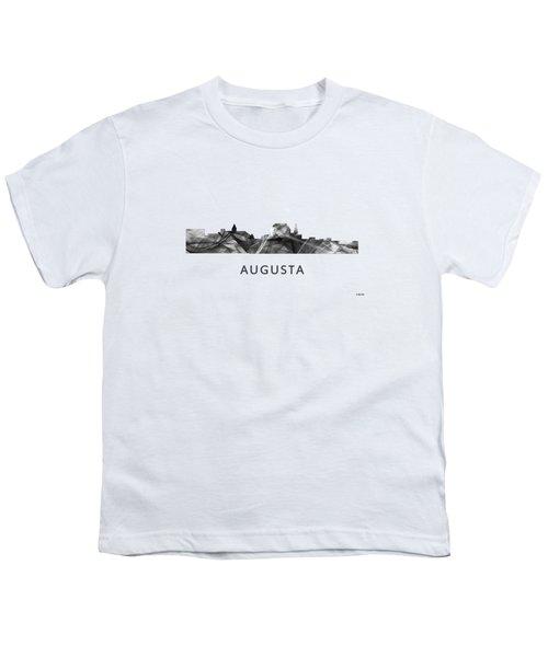 Augusta Maine Skyline Youth T-Shirt by Marlene Watson