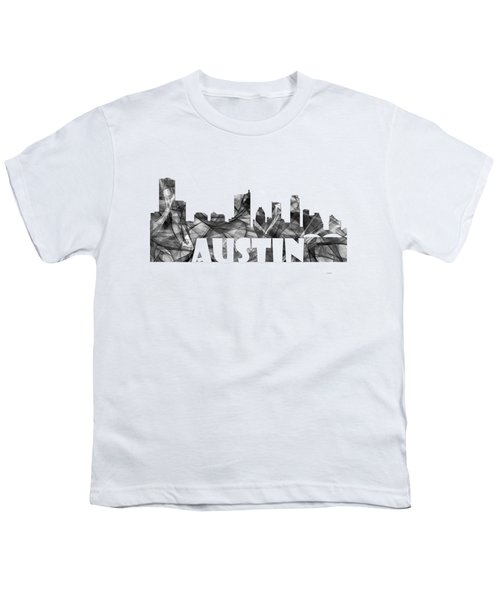 Austin Texas Skyline Youth T-Shirt
