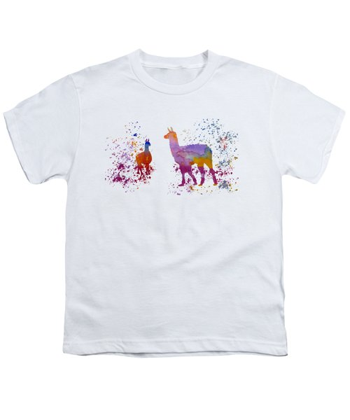 Llamas Youth T-Shirt by Mordax Furittus