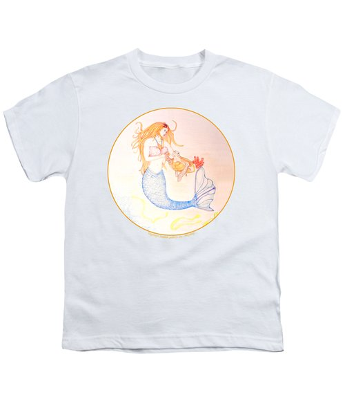 Mermaid Youth T-Shirt by M Gilroy