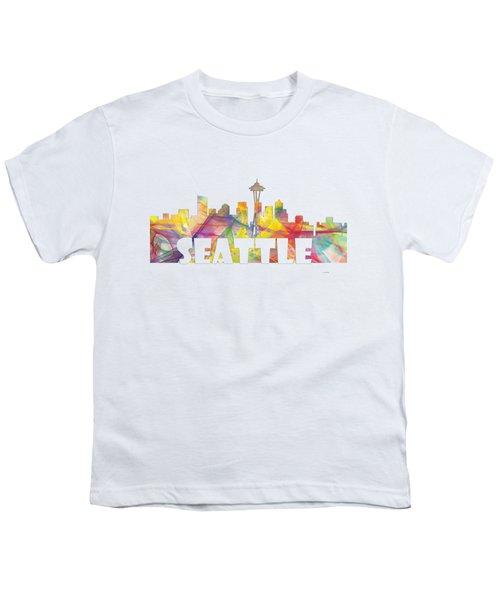Seattle Washington Skyline Youth T-Shirt