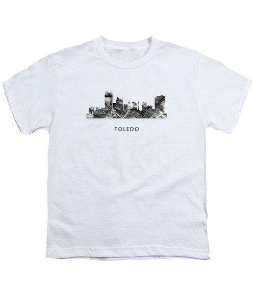 Toledo Ohio Skyline Youth T-Shirt by Marlene Watson
