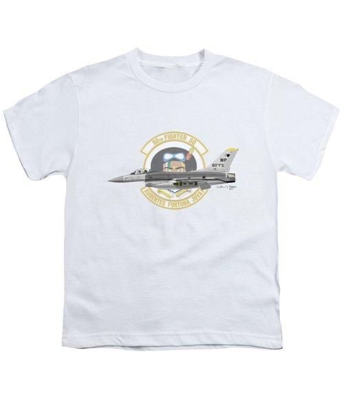 Lockheed Martin F-16c Viper Youth T-Shirt by Arthur Eggers