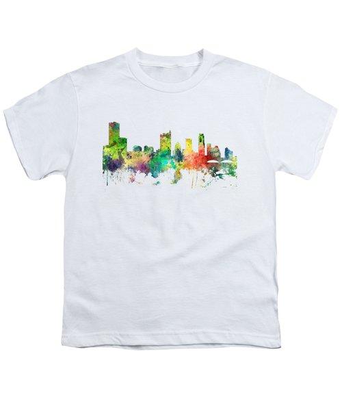 Austin Texas Skyline Youth T-Shirt by Marlene Watson