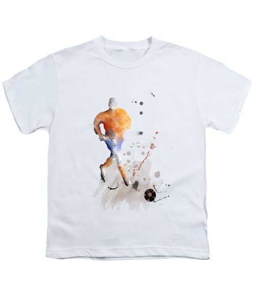 Football Player Youth T-Shirt by Marlene Watson