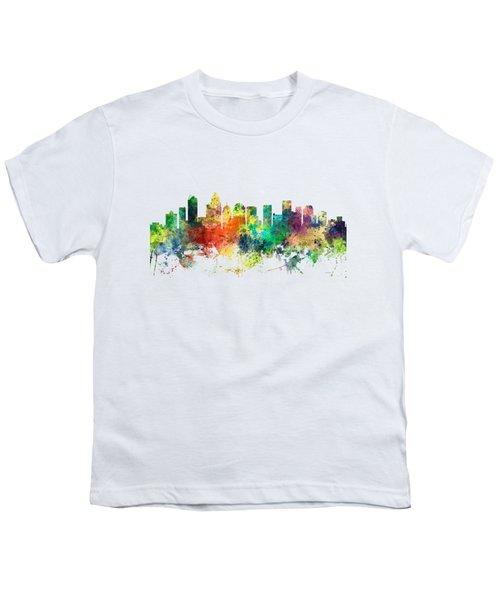 Charlotte Nc Skyline Youth T-Shirt