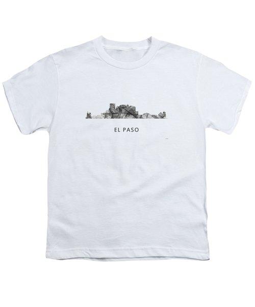 El Paso Texas Skyline Youth T-Shirt by Marlene Watson