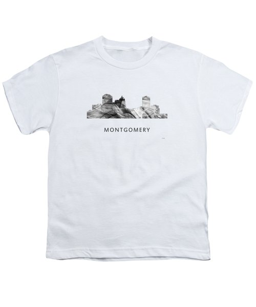 Montgomery Alabama Skyline Youth T-Shirt by Marlene Watson