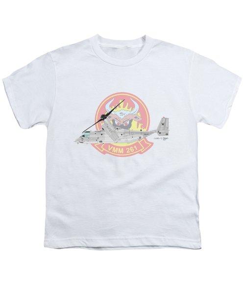 Bell Boeing Mv-22b Osprey Youth T-Shirt