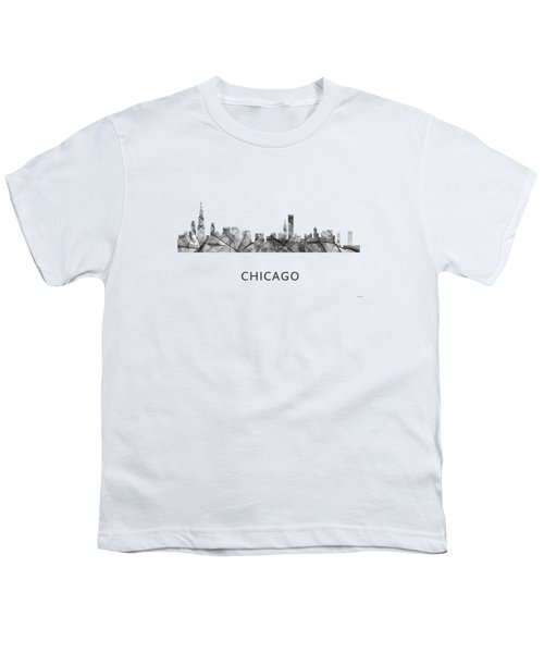 Chicago Illinois Skyline Youth T-Shirt by Marlene Watson