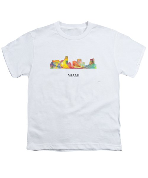 Miami Florida Skyline Youth T-Shirt