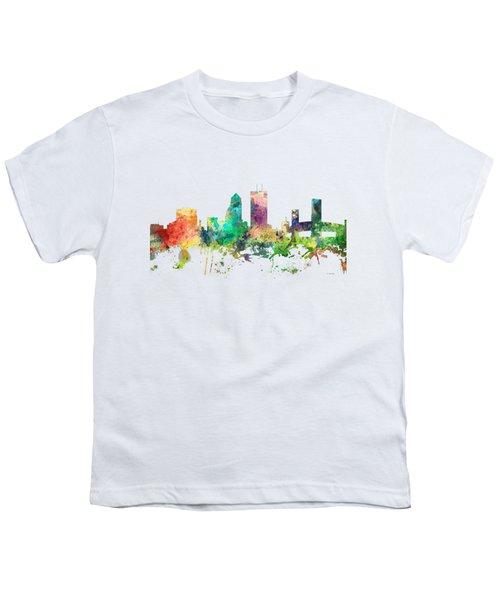Jacksonville Florida Skyline Youth T-Shirt by Marlene Watson