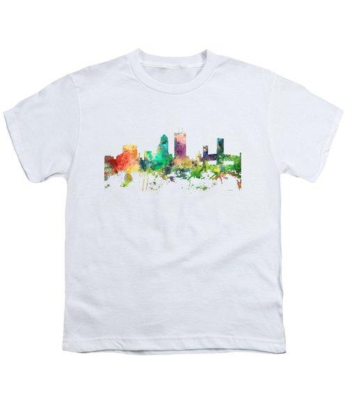 Jacksonville Florida Skyline Youth T-Shirt
