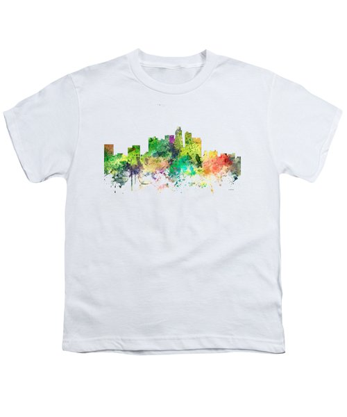 Los Angeles California Skyline Youth T-Shirt by Marlene Watson