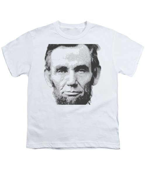 Abraham Lincoln - Parallel Hatching Youth T-Shirt by Samuel Majcen