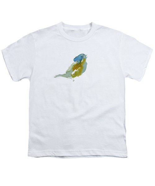 Abstract Bird Singing Youth T-Shirt by Stephanie Peters