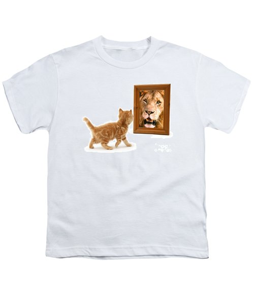Admiring The Lion Within Youth T-Shirt