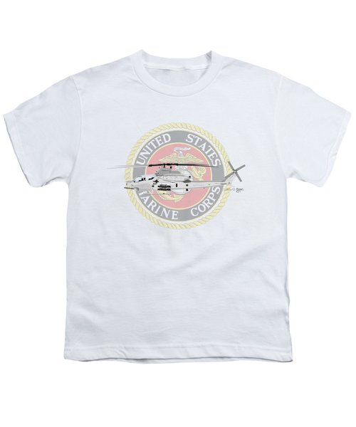 Ah-1z Viper Usmc Youth T-Shirt by Arthur Eggers