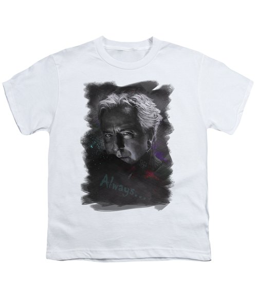 Youth T-Shirt featuring the drawing Alan Rickman by Julia Art