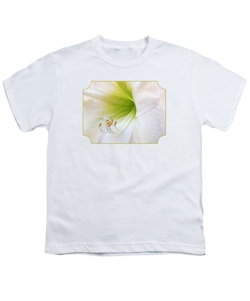 Alluring Amaryllis Youth T-Shirt by Gill Billington