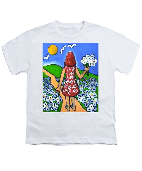 Youth T-Shirt featuring the painting Along The New Path by Winsome Gunning