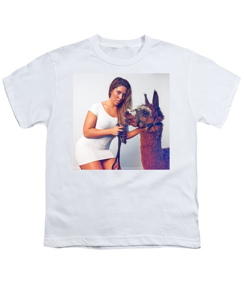Alpaca Mr. Tex And Breanna Youth T-Shirt