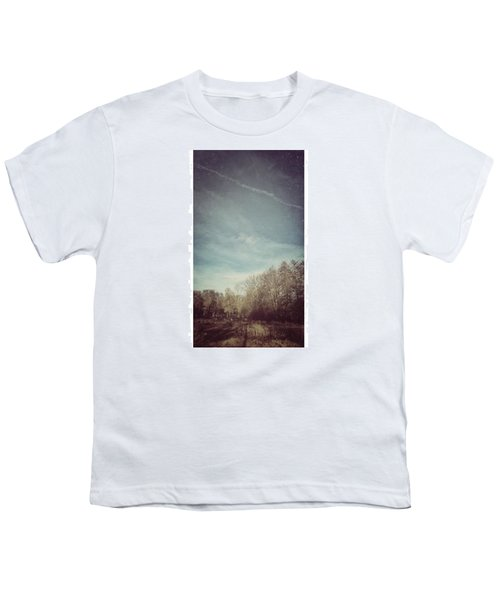 Am Himmel Die Wolken  #wolken #himmel Youth T-Shirt