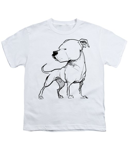 American Bulldog Gesture Sketch Youth T-Shirt