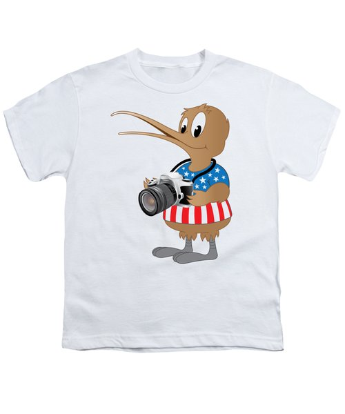 American Kiwi Photo Youth T-Shirt by Mark Dodd