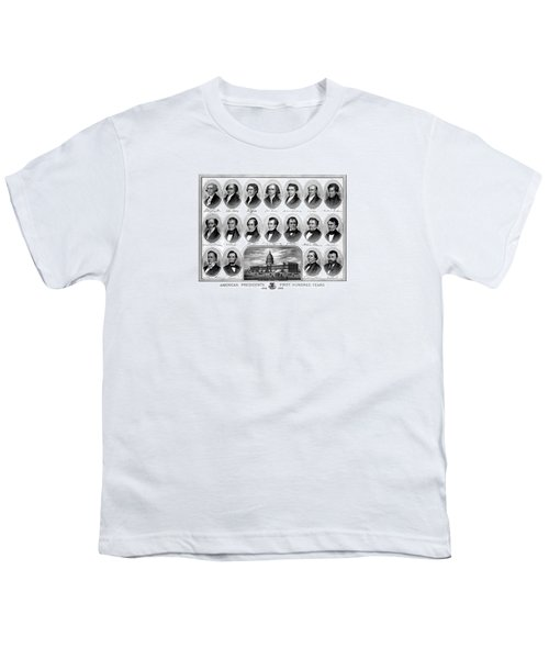 American Presidents First Hundred Years Youth T-Shirt by War Is Hell Store