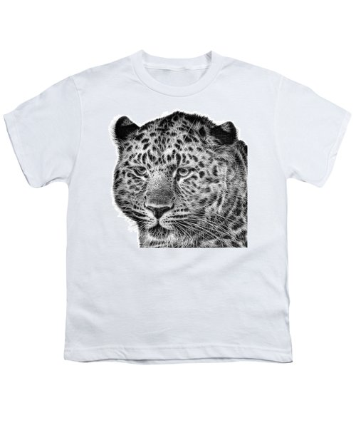 Amur Leopard Youth T-Shirt by John Edwards