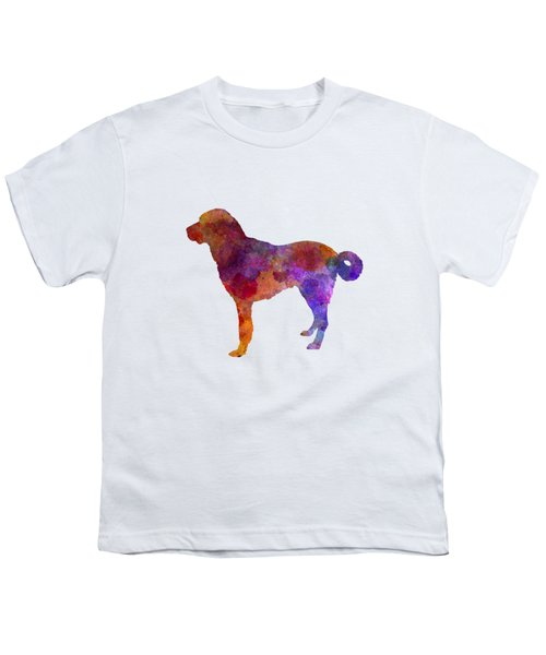 Anatolian Shepherd Dog In Watercolor Youth T-Shirt by Pablo Romero