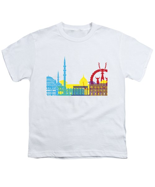 Ankara Skyline Pop Youth T-Shirt by Pablo Romero