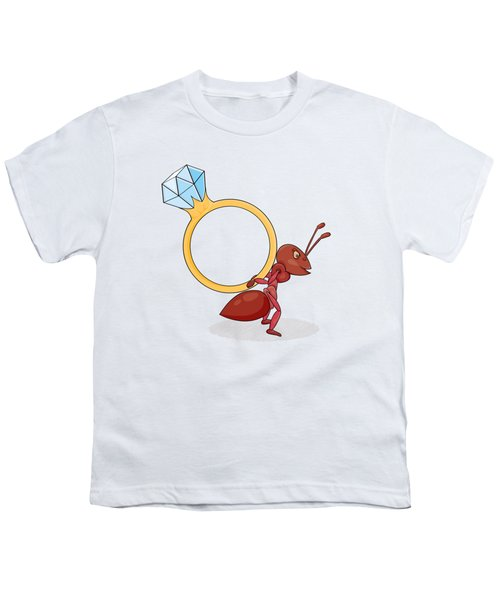 Ant With Big Ring Youth T-Shirt