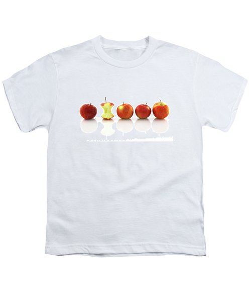 Apple Core Among Whole Apples Youth T-Shirt by GoodMood Art