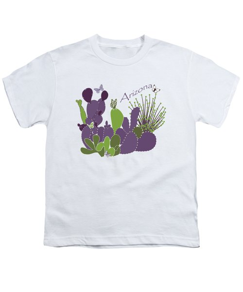 Arizona Cacti Youth T-Shirt by Methune Hively